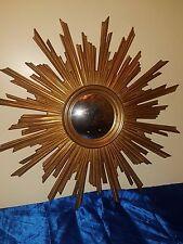 Sonnenspiegel gold sunburst mirror mid century Konvex 75 cm 60er 70er