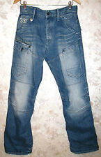 Men's G-STAR GENERAL 5620 LOOSE EXTRACT EMBRO Jeans Blue Button Fly W30 L31