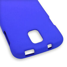 Blue Case For Samsung Galaxy S4 Active i537 Hard Rubberized Snap On Phone Cover