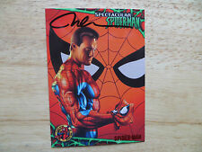 VINTAGE '97 FLEER ULTRA SPIDER-MAN UNMASKED CARD SIGNED NELSON ART