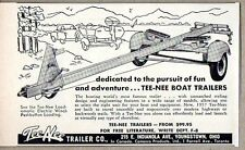 1957 Print Ad Tee-Nee Boat Trailers & Loadamatic Electric Winch Youngstown,OH