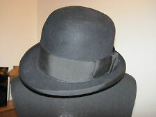 LOCK & CO LONDON ST JAMES'S STREET HATTERS Homburg HAT VINTAGE GENUINE BLACK