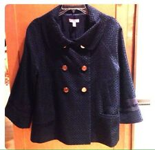 Lilly Pulitzer Navy Swing Pea Coat, Size 10
