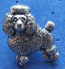 Pewter Show Poodle Brooch Pin  Quality