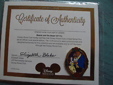 DISNEY BEAUTY AND THE BEAST COLLECTORS PIN