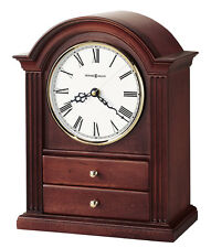 635-112 KAYLA --HOWARD MILLER TABLE MANTEL CLOCK  IN WINDSOR CHERRY