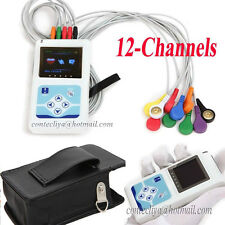 USA 12-channel ECG/EKG Holter System 24H Recorder Monitor ​Analyzer Software,FDA