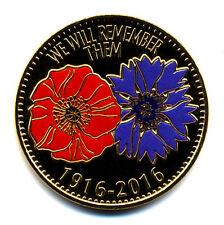 80 THIEPVAL 1916-2016, Coquelicot et bleuet, 2016, Monnaie de Paris