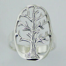 USA Seller Tree of Life Ring Sterling Silver 925 Best Deal Plain Jewelry Size 8