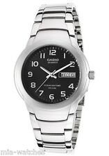 Casio MTP1229D-1A Men's Black Dial Stainless Steel Dress Watch 50M New DAY DATE