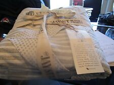 West Elm Full Queen duvet Jay Street block print Birra  New with tags