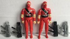 Black Major Custom GI Joe COBRA Red Storm Shadow Plastitrama2 Fig Lot Plus Bonus