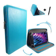 360° drehbare 7 zoll Tablet Tasche Hülle blackberry playbook - Zipper Türkis 7