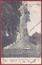 GENOVA CHIAVARI 141 MONUMENTO VITTORIO EMANUELE II Cartolina viaggiata 1904