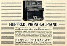 Das Hupfeld-Phonola-Piano mit selbsttätiger Melodieführung von 1550 Mark an 1913