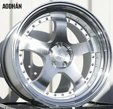 18X9.5 18X10.5 +35 MIESTER STYLE 5X120 SILVER WHEELS FIT BMW 325 328 335 525 528