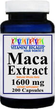 Maca 1600 mg containing 200 capsules Vitamins because your worth it