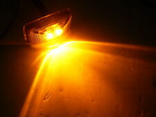 LED Amber Snap in Trailer Marker Light 1.2 x 2.5 Truck Camper Rice