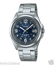MTP-S101D-2B Blue Casio Men's Watches Solar Powered 50m Steel Band Date New