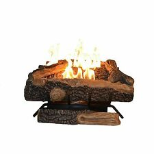 Natural Gas Logs For Fireplace Vent Free Firewod Log Set Insert W/ Thermostat