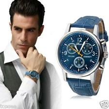 Montres Homme luxe Classique Montres simili Faux cuir Quartz montre analogique