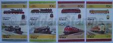 1985 NUKUFETAU Set #1 Train Locomotive Railway Stamps (Leaders of the World)
