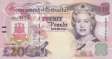 Gibraltar banknote 20 pounds (2006)  B125 P-33  UNC