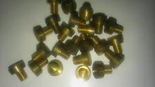 "4BA x 3/16""  ( 4.7mm ) Brass Cheese Head Screws  Bolts QTY 25"