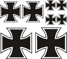 8 x Eisernes Kreuz Aufkleber Sticker IRON CROSS Kreutz  Auto Tuning TOP KULT .