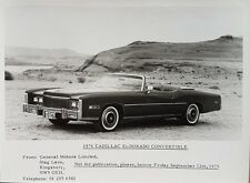 Cadillac Eldorado Convertible Black & White Press Photograph - 1976 #