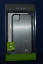 CASE-MATE Barely There Brushed Aluminum Silver Case for iPhone 4/4S