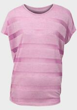 Atmosphere Size 10 Pink Stripe Cap Sleeve T Shirt Top Blouse BNWT