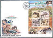 NIGER 2013 FAUNA OF AFRICA HYENA  SHEET FIRST DAY COVER