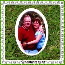 Ceramic Grave Side Memorial Photo Plaque 4 inch memorial tile