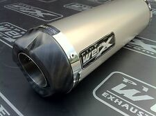 Kawasaki ZX6R ZX636 B1H 2002 03 2004 Titanium GP Carbon Outlet Race Exhaust Can