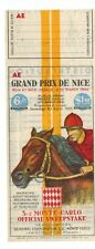 TICKET - MONTE-CARLO OFFICIAL SWEEPSTAKE 1938 - GRAND PRIX DE NICE - HIPPISME