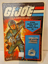 1982 Hasbro GI Joe RAH GI Joe Official Machine Gunner Medal & Sargeant Stripes