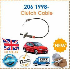 For Peugeot 206 1.1 1.4 1.6 1998- Clutch Cable NEW Good OE Quality!