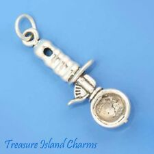 ICE CREAM SCOOPER SCOOP SPOON DIPPER 3D .925 SOLID Sterling Silver Charm NEW