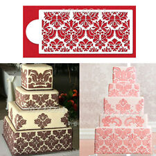 Damask Lace Border Cake Side Cupcake Stencil Sugarcraft Decoration Baking Tool