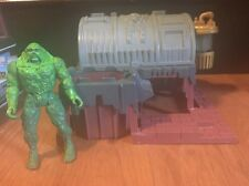 Vintage 1990 Kenner Swamp Thing Action Figure And Playset DC Comics