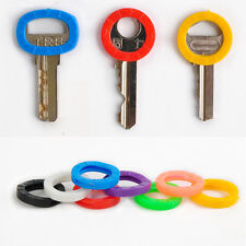 8Pcs Key Caps Cover Rubber Head Cap Easy Identify Key Covers Rings Pack