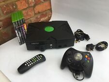 XBOX ORIGINAL CONSOLE WITH CONTROLLER AND CABLES BUNDLE - TESTED WORKING