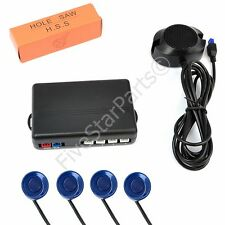 Reverse rear parking sensors KIT (4) with Buzzer audio alarm PEARL BLUE