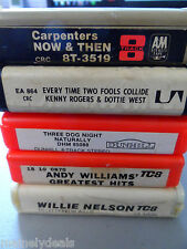 5 8 Track Lot: Carpenters / Kenny Rogers / Willie Nelson / Andy Williams / Three