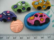 Flower Power, Beetle Car Silicone Mould/Mold Sugarcraft, Cake Toppers, Cupcakes