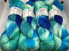 Cheshire Cat Hand-Dyed Sock Weight Yarn - Wise Fish