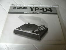Yamaha YP-D4 Owner's Manual  Operating Instructions Istruzioni New
