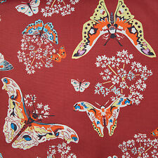 Amy Butler | Alchemy Studio | Cotton Fabric | Queen Anne Butterfly Ruby | BTY