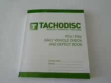 10 Driver's Defect Book PCV/PSV 50 report forms,Designs vary.Tachograph product